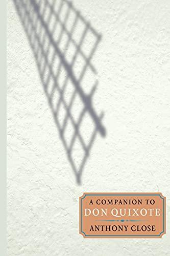 9781855662087: A Companion to Don Quixote (Monografías A)