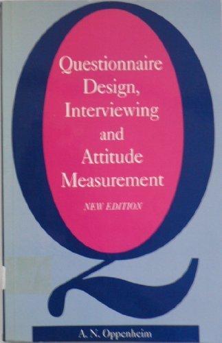 9781855670440: Questionnaire Design, Interviewing and Attitude Measurement