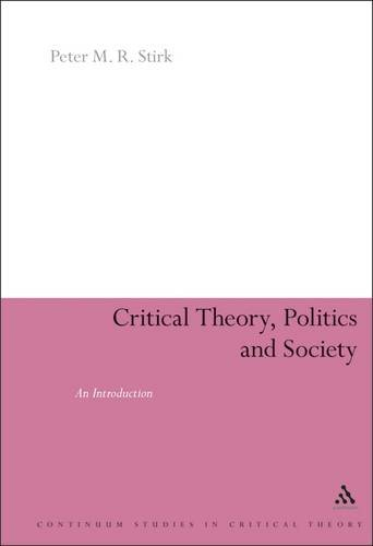 9781855675599: Critical Theory, Politics and Society: An Introduction