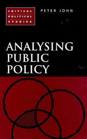 9781855675872: Analysing Public Policy (Critical Political Studies)