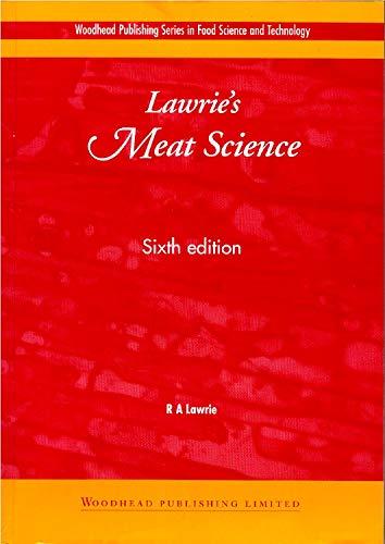 Lawrie's Meat Science, Sixth Edition: R. A. Lawrie
