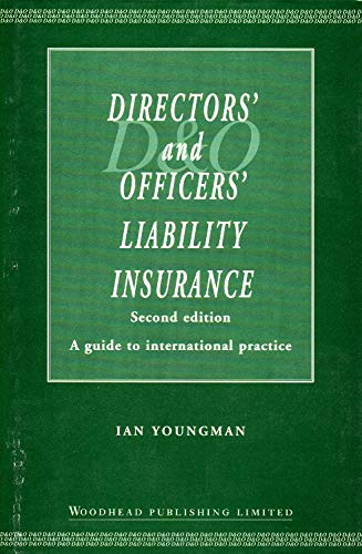 9781855734371: Directors? and Officers? Liability Insurance, Second Edition