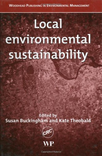 9781855736856: Local Environmental Sustainability (Woodhead Publishing in Environmental Management)