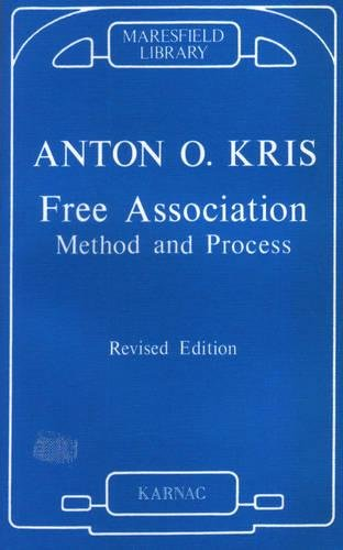 9781855751385: Free Association: Method and Process (Maresfield Library)