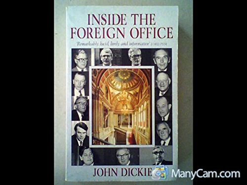 9781855926189: Inside the Foreign Office