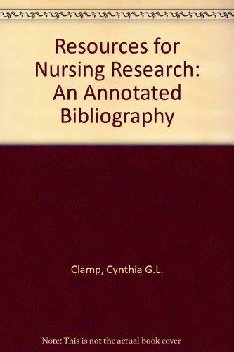 9781856040280: Resources for Nursing Research: An Annotated Bibliography