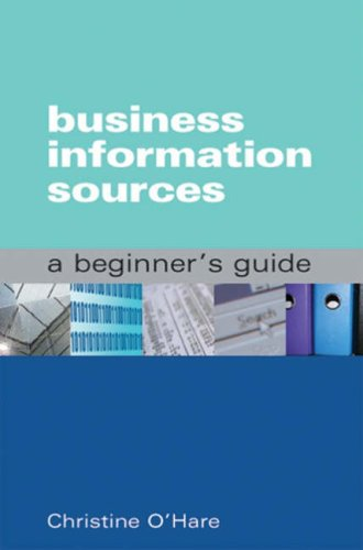 9781856046039: Business Information Sources
