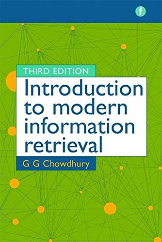 9781856046947: Introduction to Modern Information Retrieval, Third Edition