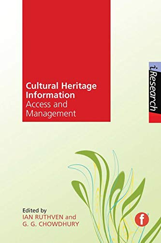 9781856049306: Cultural Heritage Information Access and Management (iResearch)