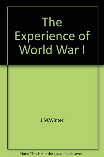 9781856276580: The Experience of World War I
