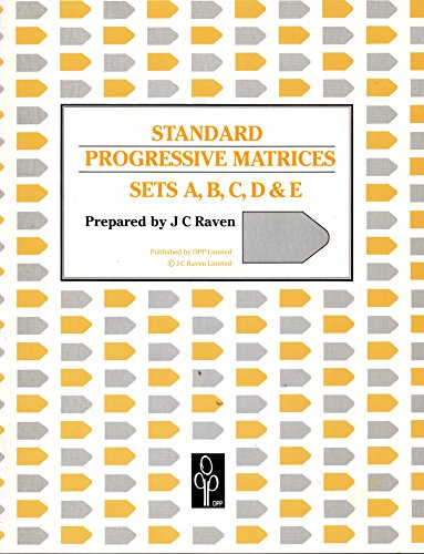 Standard progressive matrices sets A,B,C,D & E (1856390209) by J. C Raven