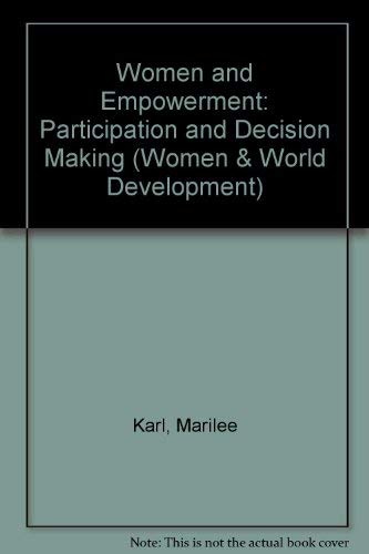 9781856491914: Women and Empowerment: Participation and Decision Making (Women and World Development Series)