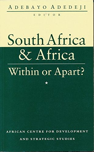 9781856494045: South Africa and Africa: Within or Apart?