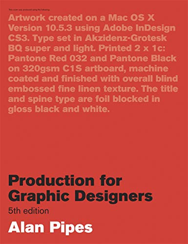 9781856696012: production for graphic designers (5eme edition) /anglais