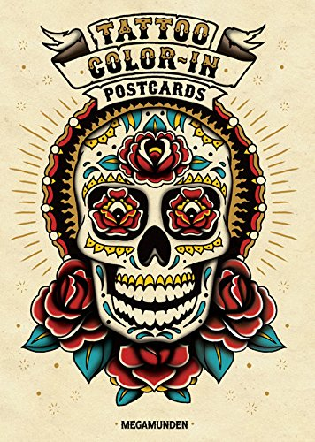9781856699594: Tattoo Color-In Postcards