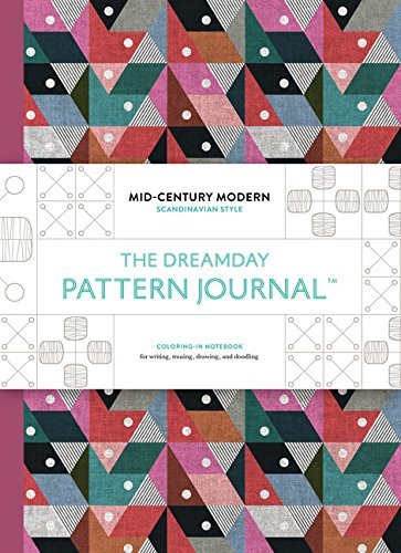 The Original Pattern Journal: Mid-Century Modern - Scandinavian Design: Coloring-In Notebook for ...