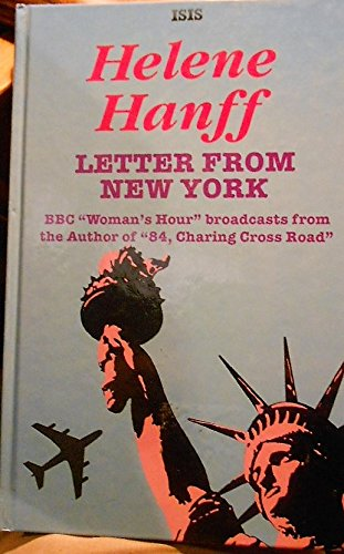 9781856950060: Letter from New York (ISIS Large Print)