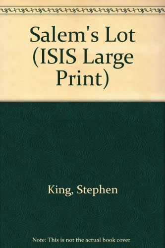 9781856953085: Salem's Lot (ISIS Large Print)