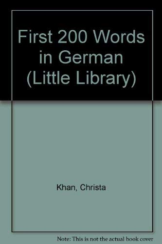 9781856979559: First 200 Words in German (Little Library) (English and German Edition)