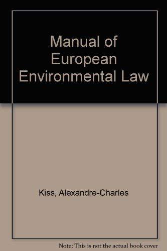 9781857010183: Manual of European Environmental Law