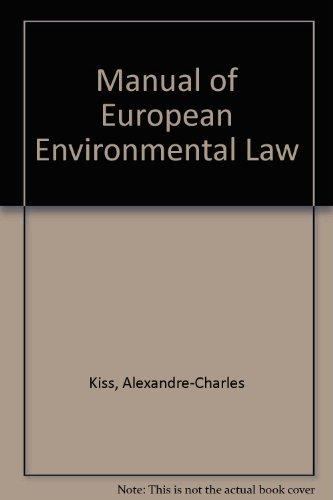 9781857010190: Manual of European Environmental Law
