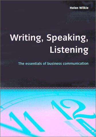 9781857036930: Writing, Speaking, Listening