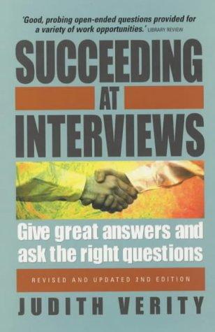9781857038422: Succeeding at Interviews