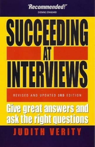 9781857039450: Succeeding At Interviews: 3rd edition