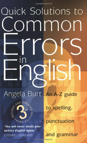 9781857039474: Quick Solutions to Common Errors in English