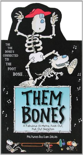 9781857075564: Them Bones: A Fabulous 1.5 Metre Pull-out Hang-up Skeleton (3d Wall Posters)