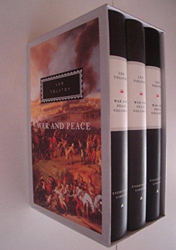 9781857150964: War And Peace: 3 vols (Everyman's Library Classics)