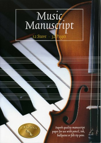 9781857202137: Music Manuscript Book. 12 Stave . 32 Pages