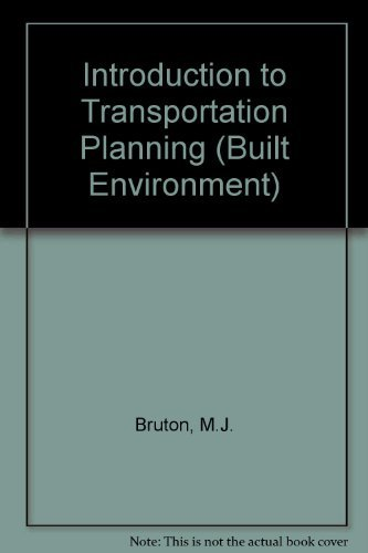 9781857280180: Introduction to Transportation Planning (Built Environment)