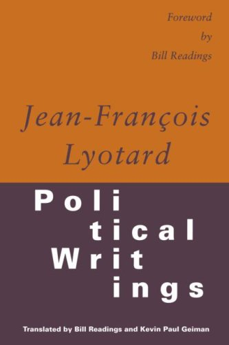 Political Writings: Lyotard, Jean-Francois