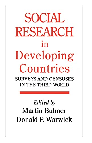 9781857281378: Social Research In Developing Countries: Surveys And Censuses In The Third World