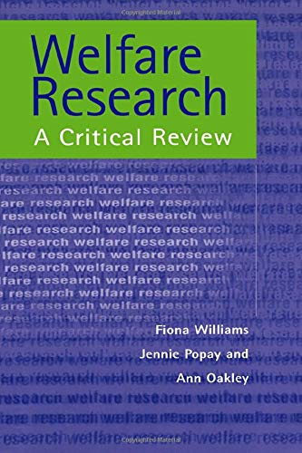Welfare Research: A Critique of Theory and: William, Fiona and