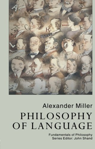 9781857284706: Philosophy of Language (Fundamentals of Philosophy)