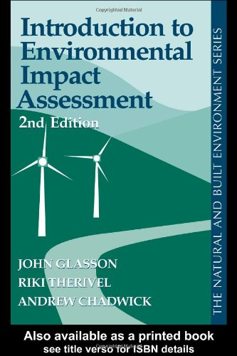 Introduction To Environmental Impact Assessment: Glasson, John; Therivel,