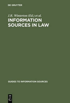 9781857390414: Information Sources in Law (Guides to Information Sources)