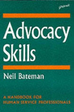 9781857422009: Advocacy Skills: A Handbook for Human Service Professionals