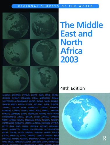 The Middle East and North Africa 2003: Maher J (ed)