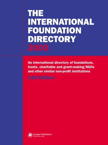 9781857431407: The International Foundation Directory 2003 (Europa International Foundation Directory)