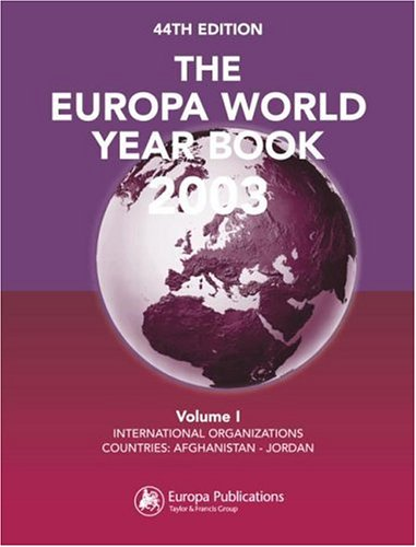 9781857431759: The Europa World Year Book 2003 (Europa World Year Book (2v.))