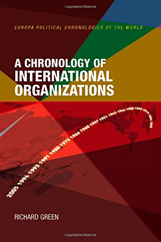 9781857432084: A Chronology of International Organizations (Political Chronologies of the World)