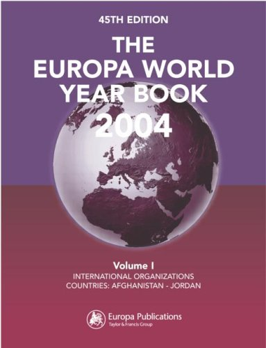 9781857432534: The Europa World Year Book 2004