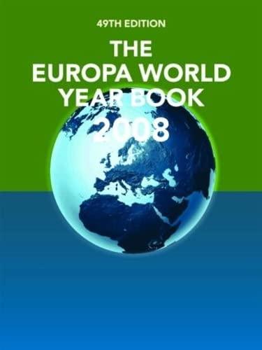 9781857434514: The Europa World Year Book 2008 (Europa World Year Book (2v.))