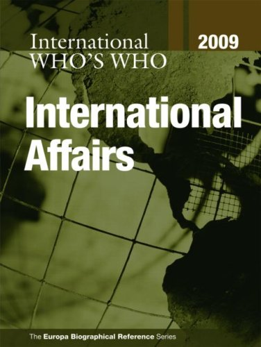 Who s Who in International Affairs 2009 (Hardback): Europa Publications