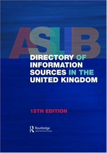Aslib Directory of Information Sources in the United Kingdon (Hardback): Europa Publications