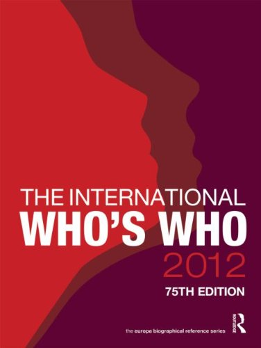 The International Who's Who 2012: Europa Publications