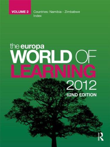Europa World Of Learning 2012 Volume 2 (Volume 2): Anthony Gladman